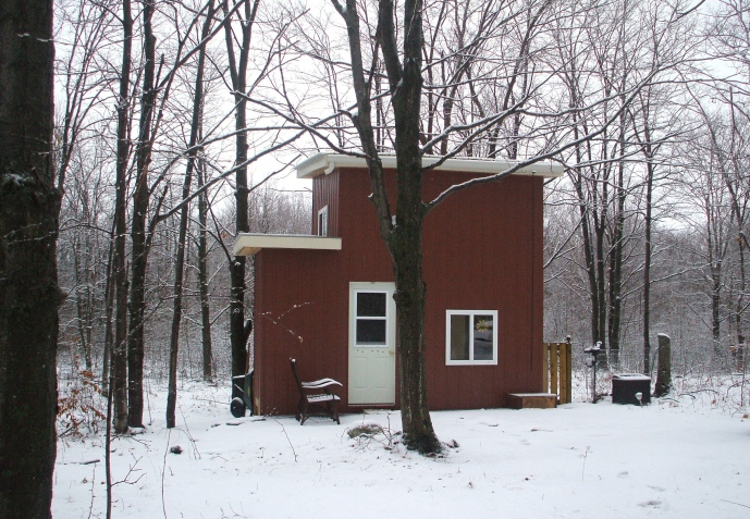 Snow at Tiny House Ontario