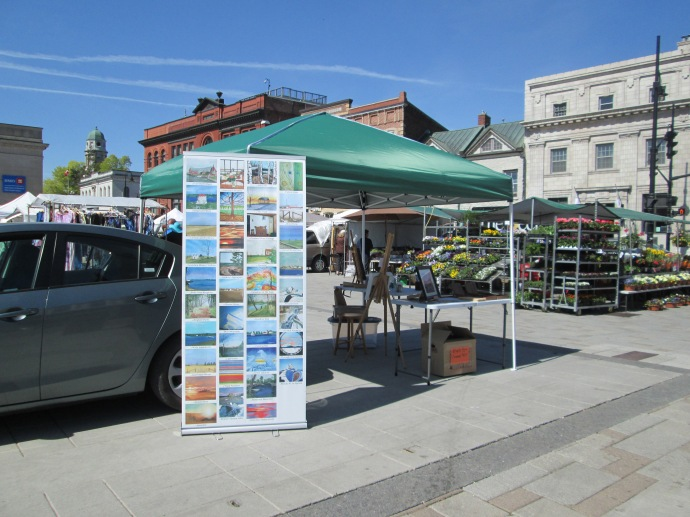 Laura's Market Stall with rental car
