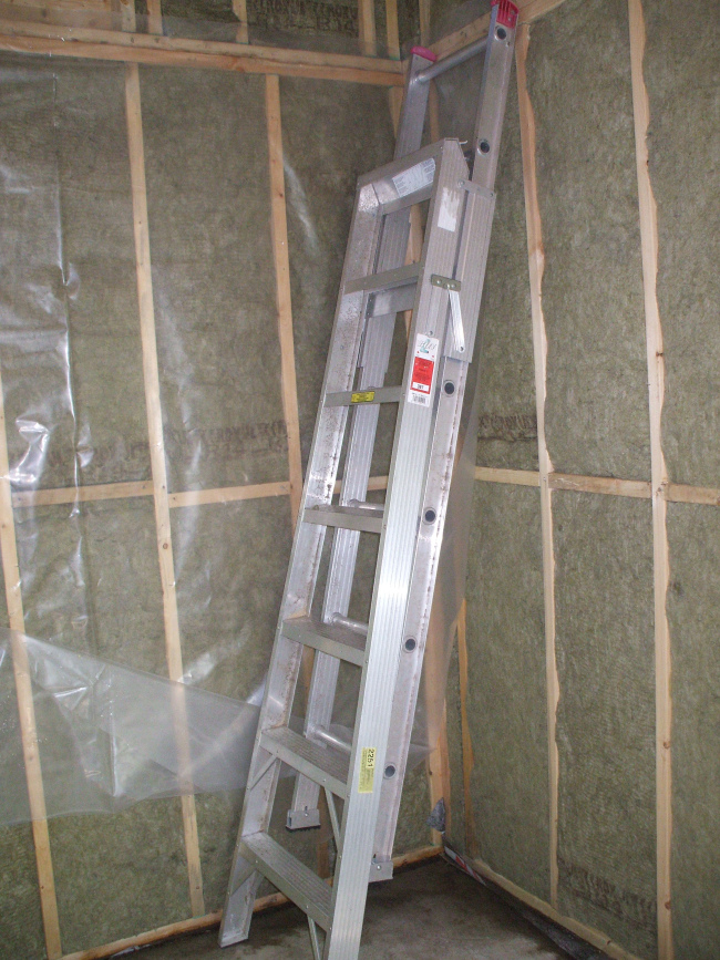 Mineral insulation going in (2011)