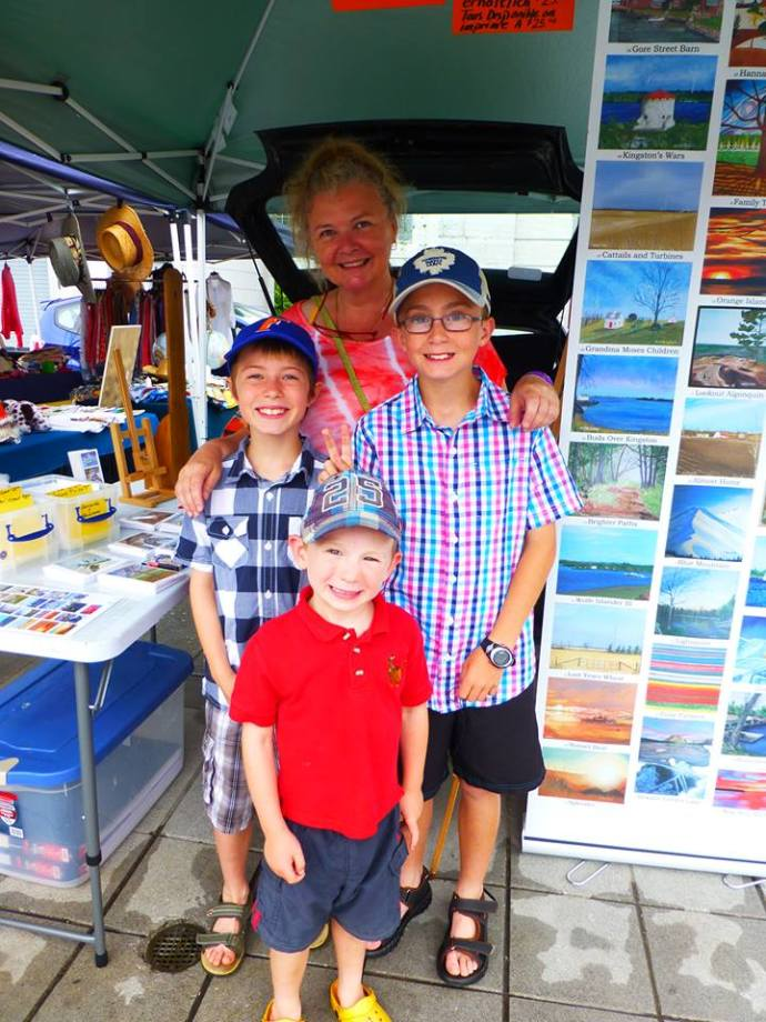 Awesome kids visiting Laura at the Sunday Market