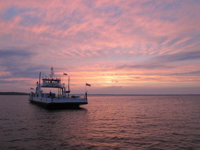 Glenora Ferry Sunset
