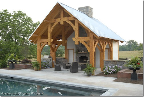 pool house timber frame