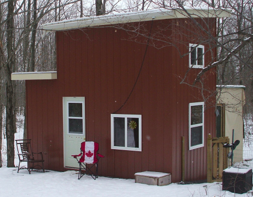 The most Canadian Flag flying tiny house photo that I know of